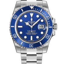 Rolex Submariner Date White gold 40mm Blue No numerals United States of America, New York, NEW YORK