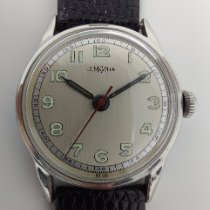 Lemania Steel Manual winding Silver Arabic numerals 32mm pre-owned