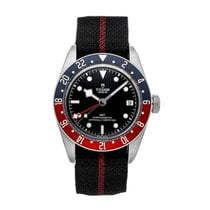 Tudor Black Bay GMT pre-owned 41mm Black Textile