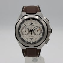 Girard Perregaux Chrono Hawk pre-owned Silver Chronograph Date Leather