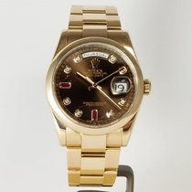 Rolex Day-Date 36 Oro rosa 36mm Marrón