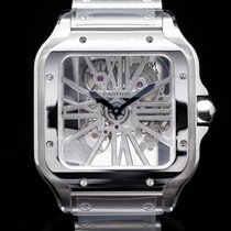 Cartier new Manual winding Skeletonized Display back Steel Sapphire crystal