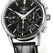 Longines Column-Wheel Chronograph Steel 40mm Black United States of America, New York, Airmont