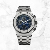 Audemars Piguet Royal Oak Offshore Chronograph Platinum 42mm Blue Arabic numerals