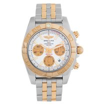 Breitling Chronomat 41 pre-owned 40mm Silver Chronograph Date Gold/Steel