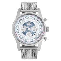 Breitling Transocean Chronograph Unitime occasion 46mm Argent Chronographe Date GMT Acier