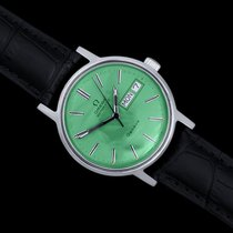 Omega Genève pre-owned 34.5mm Green Leather