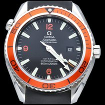 Omega Seamaster Planet Ocean occasion 45mm Noir Date Caoutchouc