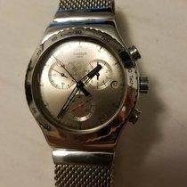 Swatch Stahl Quarz Silber 43mm gebraucht