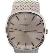 Patek Philippe White gold Automatic Silver pre-owned Golden Ellipse