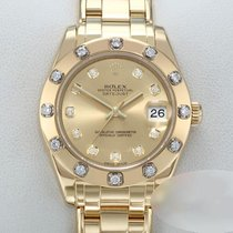 Rolex Lady-Datejust Pearlmaster pre-owned 34mm Champagne Date Yellow gold