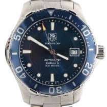 TAG Heuer Aquaracer 300M pre-owned 41mm Blue Date Steel
