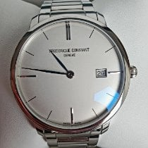 Frederique Constant Slimline Automatic pre-owned Silver Date Steel