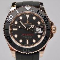 Rolex Yacht-Master 40 gebraucht 40mm Schwarz Datum Kautschuk