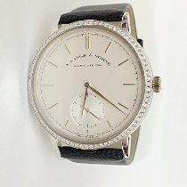 A. Lange & Söhne Saxonia White gold 38,4mm Silver No numerals United States of America, New York, New York