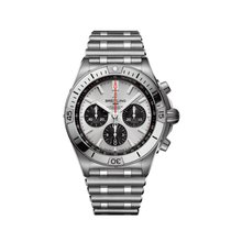 Breitling Chronomat Steel 42mm Silver No numerals