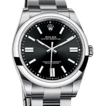 Rolex Oyster Perpetual 36 Steel 36mm Black No numerals