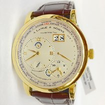A. Lange & Söhne Lange 1 Yellow gold 41.9mm Silver Roman numerals United States of America, New York, New York