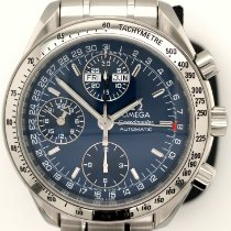 Omega Speedmaster Day Date Steel 39mm Blue No numerals United States of America, New York, New York