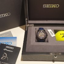 Seiko Premier Ocel 42mm Modrá Bez čísel