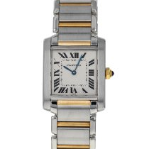 Cartier Tank Française Gold/Steel 25mm Silver Roman numerals United States of America, Maryland, Baltimore, MD