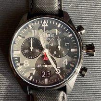 Alpina Startimer Pilot nuevo Cuarzo Reloj con estuche y documentos originales AL-372BMLY4FBS6