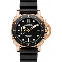 Panerai Red gold Automatic Black new Luminor Submersible 1950 3 Days Automatic