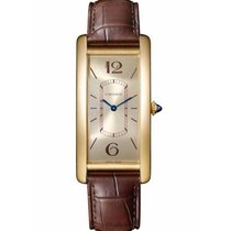 Cartier Tank (submodel) Yellow gold 46.3mm Champagne Arabic numerals