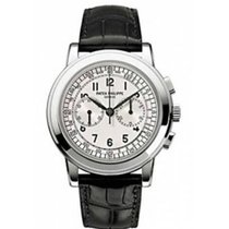 Patek Philippe Chronograph White gold 42mm Silver