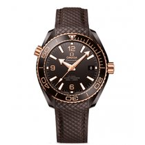 Omega Seamaster Planet Ocean Ceramic 39.5mm Brown Arabic numerals