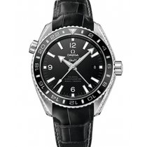 Omega Platinum Automatic Black 43.5mm new Seamaster Planet Ocean