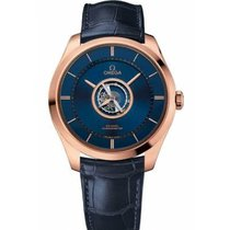 Omega De Ville Central Tourbillon Oro rosa 44mm Azul