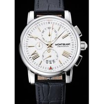 Montblanc new Automatic Central seconds Small seconds Luminous hands 40mm Steel Sapphire crystal
