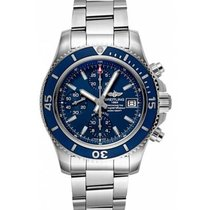 Breitling Steel Automatic Blue No numerals 42mm new Superocean