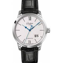 Glashütte Original Steel Automatic Silver Roman numerals 40mm new Senator Panorama Date