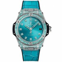 Hublot White gold Automatic Blue No numerals 39mm new Big Bang