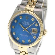 Rolex Datejust 16233 Sehr gut Gold/Stahl 36mm Automatik