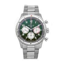 Breitling Aviator 8 Steel 43mm Green Arabic numerals United States of America, Pennsylvania, Bala Cynwyd
