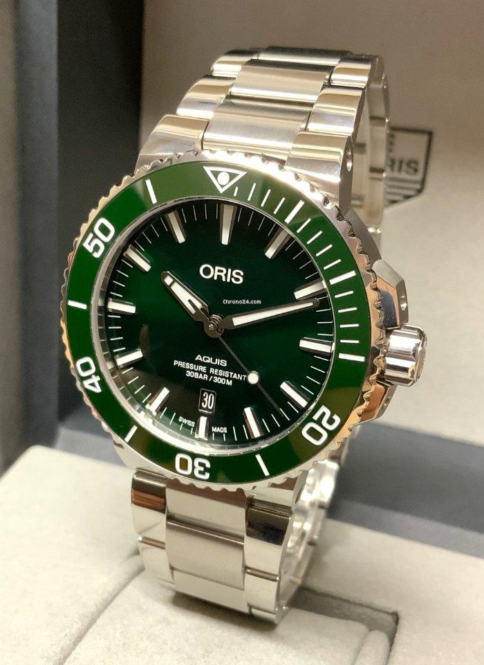 Oris Aquis Date 01 733 7730 4157-07 8 24 05PEB 2020 pre-owned