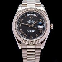 Rolex Day-Date II White gold 41mm Black Roman numerals United Kingdom, Macclesfield