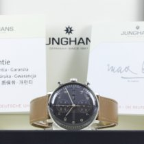 Junghans max bill Chronoscope pre-owned 40mm Leather
