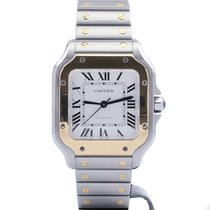 Cartier Santos (submodel) W2SA0007 Very good Gold/Steel 35.1mm Automatic
