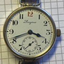 Longines Silber Handaufzug Weiß Arabisch 37mm gebraucht