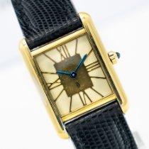 Cartier Желтое золото Кварцевые 20mm подержанные Tank (submodel)