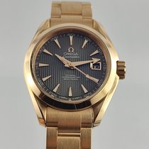 Omega Red gold Automatic Grey No numerals 30mm new Seamaster Aqua Terra