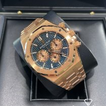 Audemars Piguet Royal Oak Chronograph Oro rosa 41mm Azul Sin cifras
