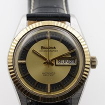Bulova Gold/Steel 37mm Automatic pre-owned United States of America, New Jersey, Upper Saddle River