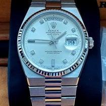 Rolex Day-Date Oysterquartz Złoto białe 36mm Srebrny