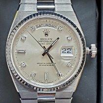 Rolex Day-Date Oysterquartz Oro blanco 36mm Plata
