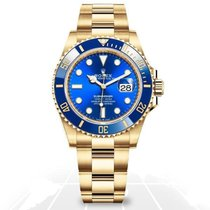 Rolex Submariner Date Yellow gold 41mm Blue No numerals